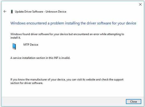 MTP Device Driver